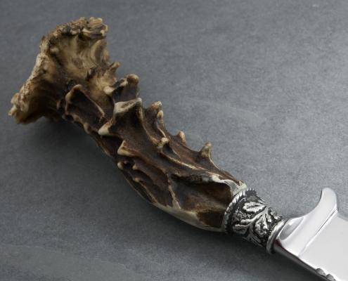 Jagdmesser mit Rehgriff - Detailfoto