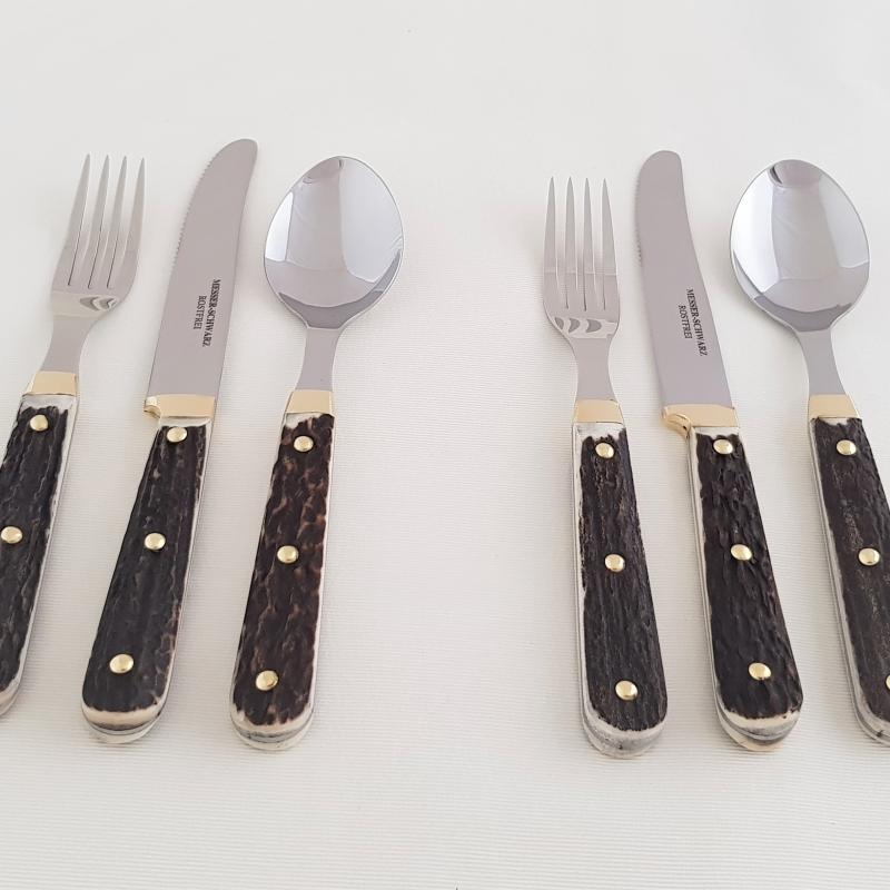 Messerset für 2 Personen Hirschhorn